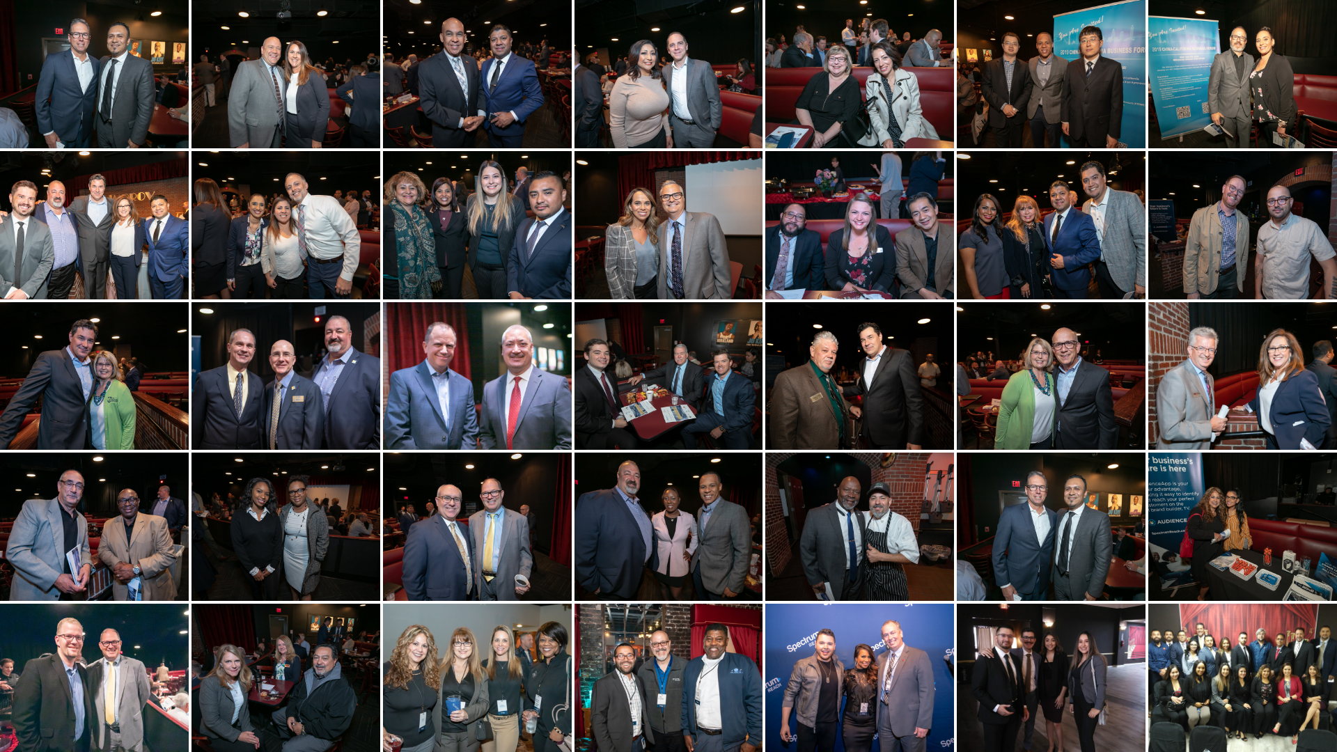 Picture collage of regional chamber members and business community members